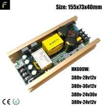 Fase luminária feixe luz hk fonte de alimentação 500w 550 600 3in1 interruptor placa fonte de alimentação para 17r 350w 16r 330 15r movendo a cabeça