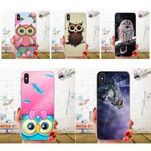Owl Pattern Hard Phone Case For Samsung Galaxy Note 5 8 9 S3 S4 S5 S6 S7 S8 S9 S10 5G mini Edge Plus Lite(China)
