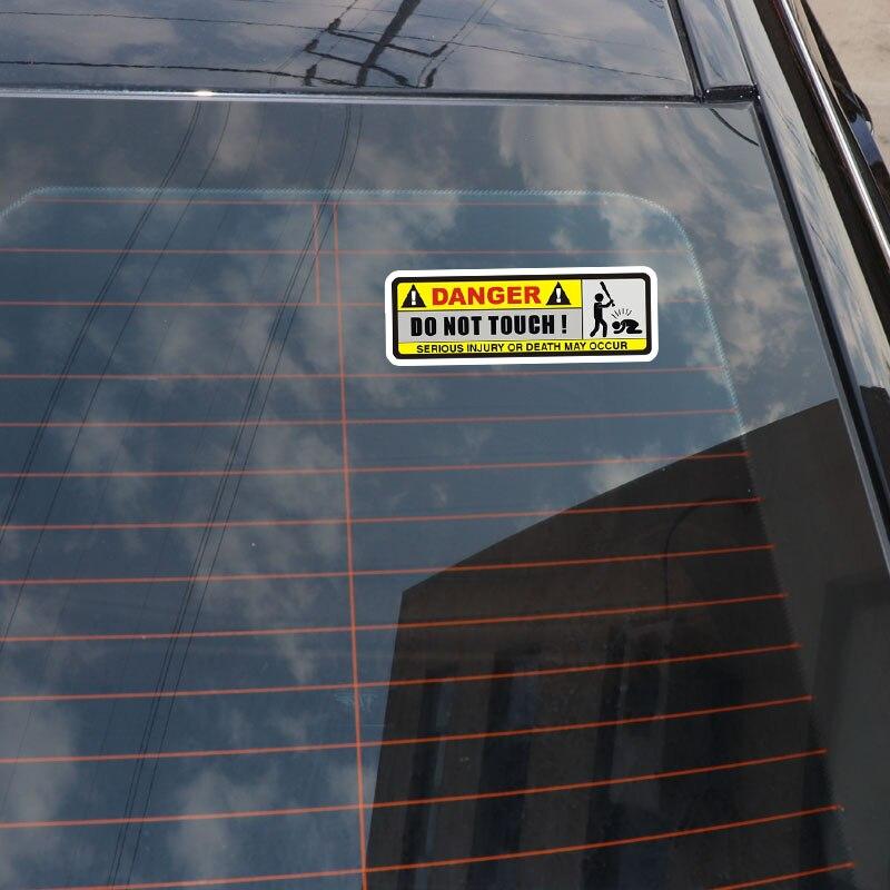 YJZT 2X 15,8 см * 5,1 см опасная забавная наклейка для автомобилей не прикасайтесь к ПВХ декоративная наклейка 12-0916
