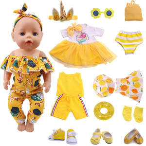 Yellow Series Accessories Shoes (100% Positive Store) Suitable 18-Inch And 43cm Dolls, Generation , Gift This is dropshipping(China)