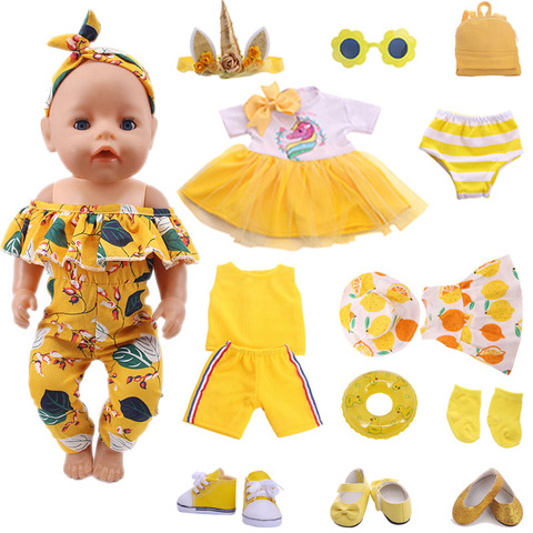 Yellow Series Accessories Shoes  (100% Positive Store)  Suitable 18-Inch And 43cm Dolls, Generation , Gift This is dropshipping Pakistan