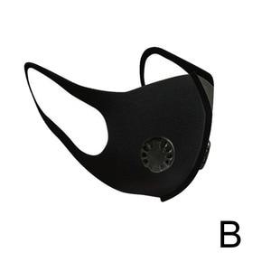 Image 5 - Воздухопроницаемая маска для рта против пыли, водонепроницаемая смываемая маска Hepa с двойным клапаном и фильтром из активированного угля, маски для лица