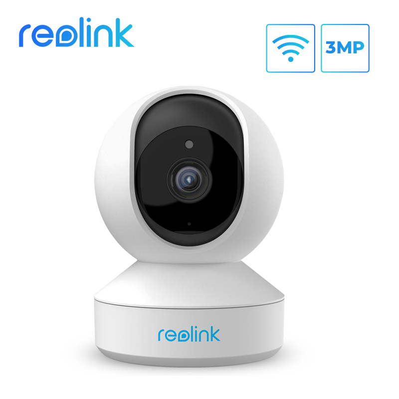 Reolink 3MP indoor ip camera WiFi Pan&Tilt 2 way audio remote access SD card slot home security camera E1|Surveillance Cameras| - AliExpress