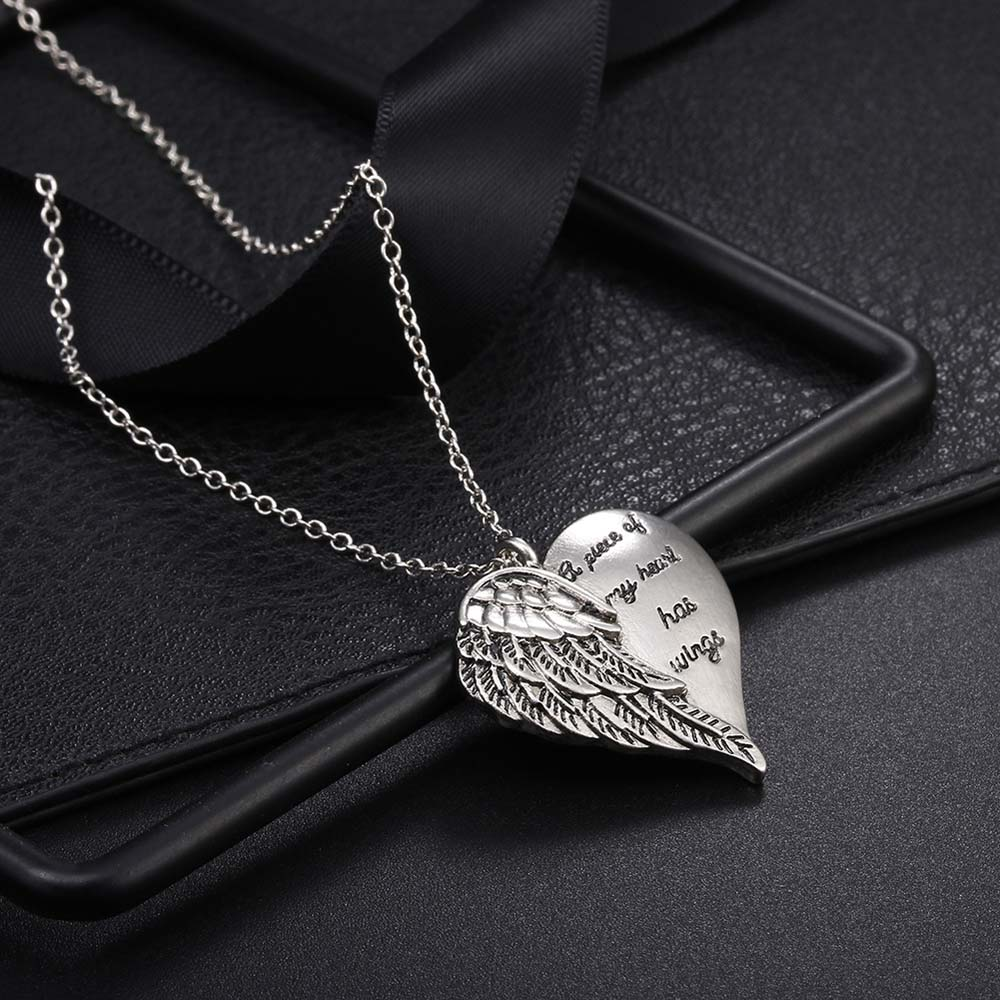 """A Piece of My Heart Has Wings"" Angel Necklace 6"