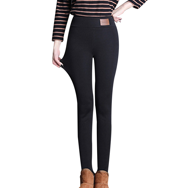 New Winter Women Warm Tights Thickened Fleece Lined Casual Lady Pants Trousers MV66