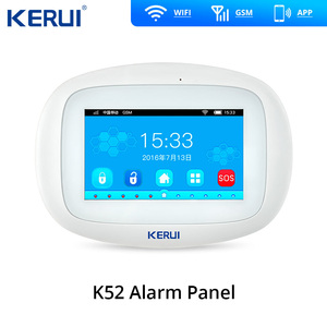 Image 2 - K52  WIFI GSM Home Burglar Alarm LCD Large Touch Screen Security Intruder System APP Control