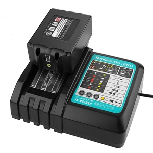 Image 5 - Cargador de batería Li Ion 3A corriente de carga para Makita 14,4 V 18V Bl1830 Bl1430 Dc18Rc Dc18Ra herramienta eléctrica Dc18Rct enchufe de carga Eu