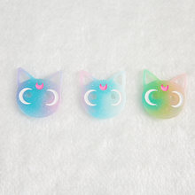 10 шт 24*28 мм Разноцветные Сейлор Мун Кот с плоским основанием