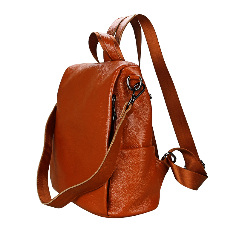 RanHuang Women Genuine Leather Backpack Casual Backpack High Quality Cow Leather Backpack School Bags For Teenage Girls A1606