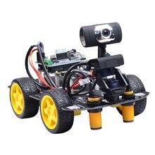 Programmierbare Roboter DIY Wifi Dampf Pädagogisches Auto mit Grafik Programmierung XR BLOCK Linux für Arduino UNO R3 (Patrol Intelligente)