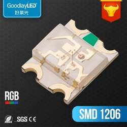New Technology factory Hot Sale 1206 ti-color chip SMD LED CE & RoHS Compliant Diode Light