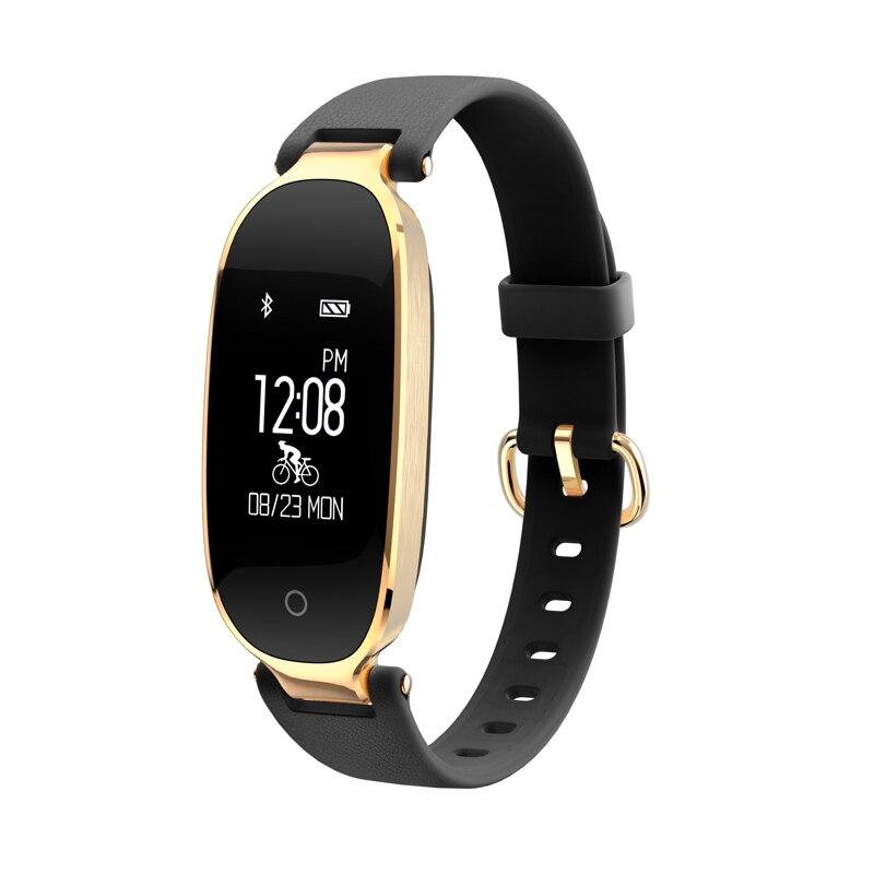 2019 Bracelet intelligent femmes fréquence cardiaque pression artérielle Fitness Tracker mode multi-sport montre intelligente message rappel étanche