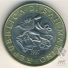 San Marino 1997 1000 Lire Royal Lion Commemorative Coins Real Original Coin UNC coins low price coins big discount custom personalized coins wholesale usa challenge coin cheap us military coins