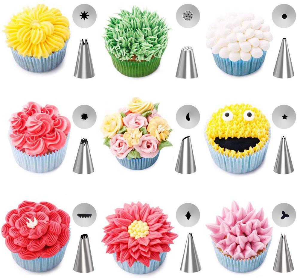 50Pcs//Set Stainless Steel Nozzles Cream Decor Cake Tools Kitchen Accessories.dr