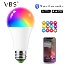 E27 RGB Bulb 220V 110V Magic Led Lamp B22 RGBW Wireless Bluetooth 4.0 Smart Light Color Control By Via App 16 Million
