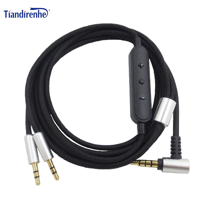Mic Cable w// Remote For Sol Republic Master Tracks HD X3 V8 V10 V12 Headphones