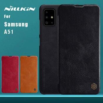 for Samsung Galaxy A51 A10s A50 A50s A30s A40 A30 A60 A70 A90 5G Case NILLKIN Flip Leather Case Card Slot Back Cover Phone Case
