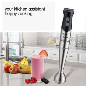 SOKANY Portable 2 Speed Stainless Steel Electric Blender Fruit Vegetable Nut Juice Smoothie Baby Food Mixer Kitchen Hand Blender