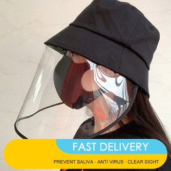2020 Removable Anti Flu Protection Hat +Mask Protective Anti-spitting Anti Dust Hat Face Cover Outdoor Fisherman for  Adult Wind