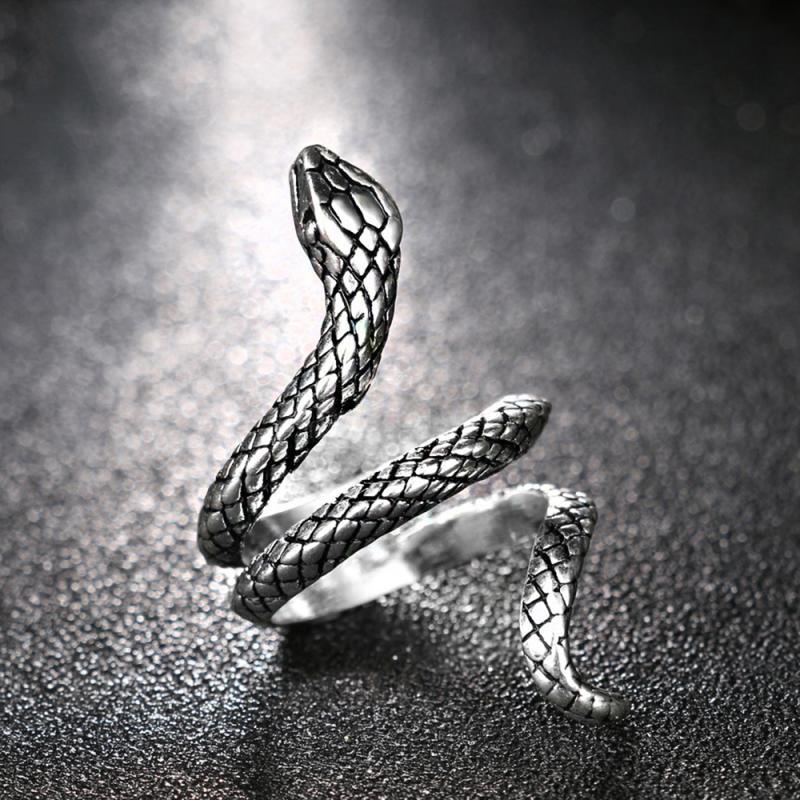 Кольцо змея кобра формы, в ретро-панк-преувеличенный дух кольцо Открытое кольцо темперамент регулируемое кольцо ювелирных изделий античны...