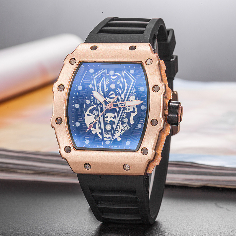 New RM Richard Limited Edition Quartz Watch Mille Men's Water Resistant Wristwacthes Reloj Hombre Mens Watches Top Brand Luxury