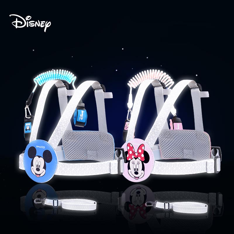 Disney Children Night Reflection Anti Lost Wrist Toddler Leash Safety Harness For Baby Strap Rope Outdoor Anti-lost Wristband