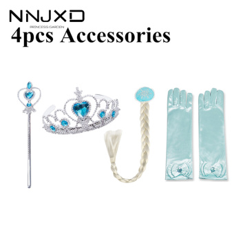 Princess Girls Accessories Set Kids Party Cosplay Queen Magic Wand Tiara Gloves Wig Hair 4pcs - discount item  5% OFF Kids Accessories
