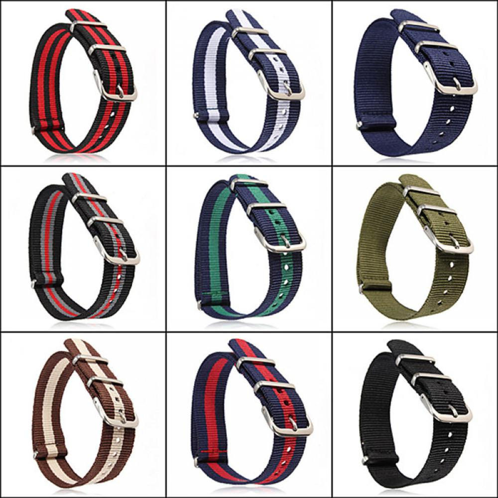 12 Color Nylon Watchband 18mm 20mm Replacement Belt Watch Band Strap Wrist Strap Watch Accessories Universal Hot Sell
