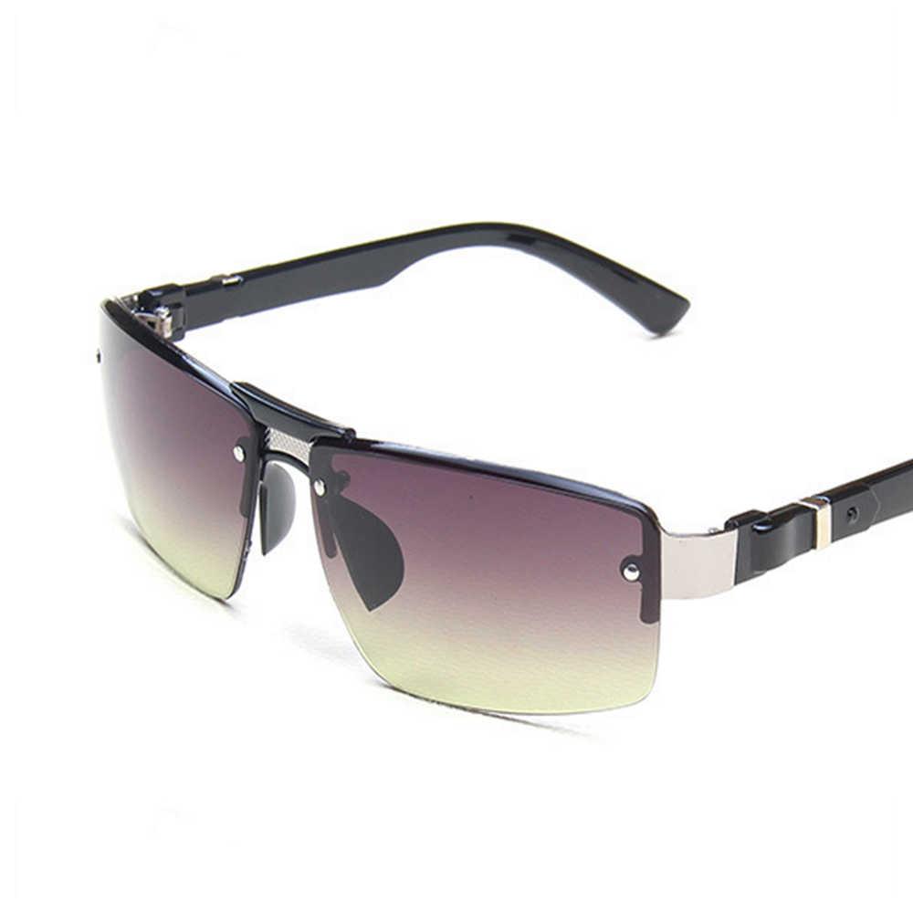 Óculos de sol masculino versátil, óculos de sol de metal esportivo à prova de vento, com proteção uv400