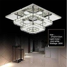 Современный монтируемый на поверхность светодиодный потолочный светильник, зеркальный хромированный блеск для гостиной, ванной комнаты, светильник для помещений, светодиодный потолочный светильник