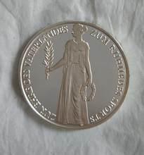 35mm 1936 berlim congresscomemorative prata chapeado moeda lembrança desafio coleção de moedas colecionáveis arte artesanato