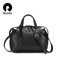 REALER Genuine Leather Handbags Women Bags Shoulder