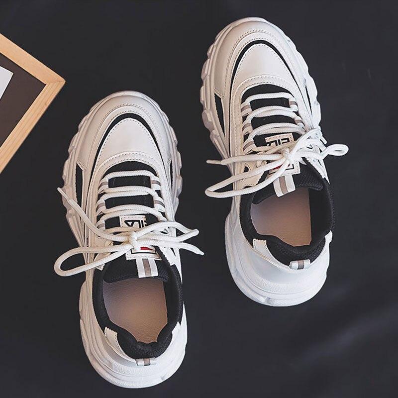 2020 nuevas zapatillas De Mujer blancas De moda De fondo grueso zapatillas De plataforma para Mujer Zapatos casuales Zapatos De Mujer Zapatillas gruesas GOGC 2020, zapatos de mujer de primavera, zapatos de plataforma para mujer, zapatillas gruesas, zapatillas, zapatos informales para mujer, zapatillas para mujer G6802