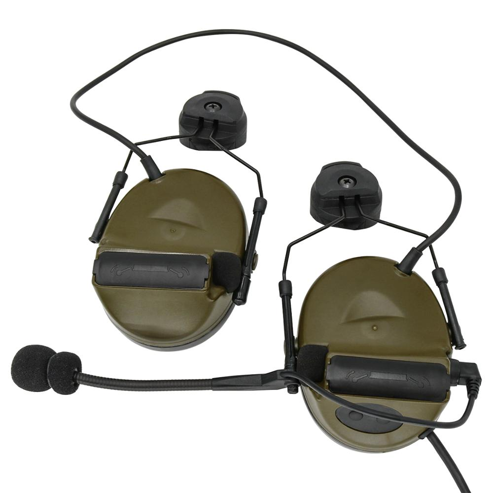 COMTAC II Helmet Bracket Version Headset Airsoft Military Tactical Headphone Noise Reduction Pickup Shooting Hunting Earmuffs FG