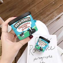 Брендовый чехол с шоколадным мороженым бен Джерри для airpods