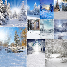 WHISM 3*5 Feet Woods Snow Scene Photography Background Cloth Ink Painting Canvas Home Decoration 30 Styles Available