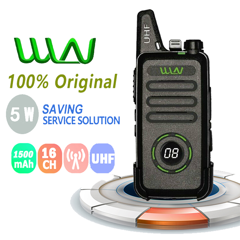 New WLN KD-C1 Plus Walkie Talkie 5W UHF 400-470 MHz16 Channels Walkie Talkie Mini Portable Radio Tranceiver Radioamateur Baufang