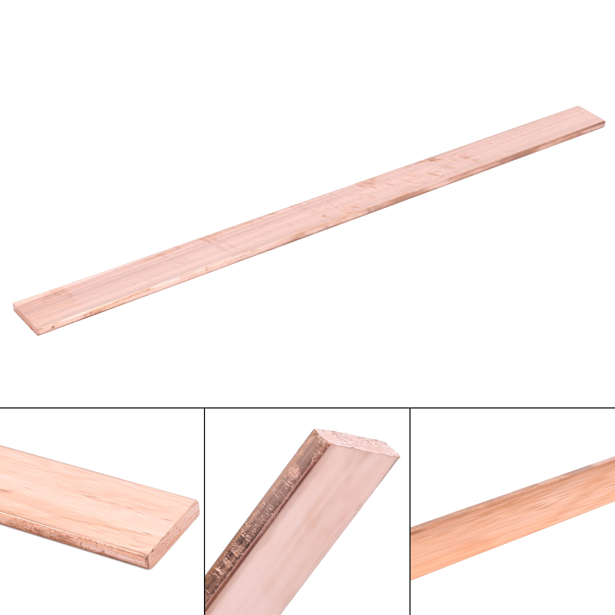 1pc 3mm Thickness Copper Strip 99.6% Pure Metal Sheet T2 Purple Cu Flat Bar 15*250mm Industry DIY Plate For CNC