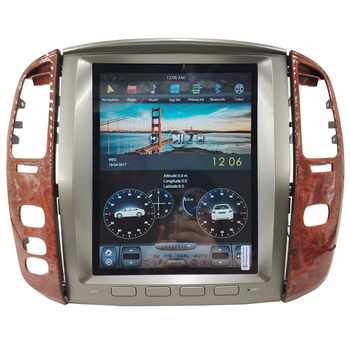 "12.1"" Tesla Android Multimedia Car Radio Audio Sat Nav for Toyota Land Cruiser 100 Lexus LX470 LX 470 2003 2004 2005 2006 2007"