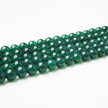 LIng Xiang Fashion natural Jewelry Green Agates stone loose beads DIY men and women bracelet necklaces