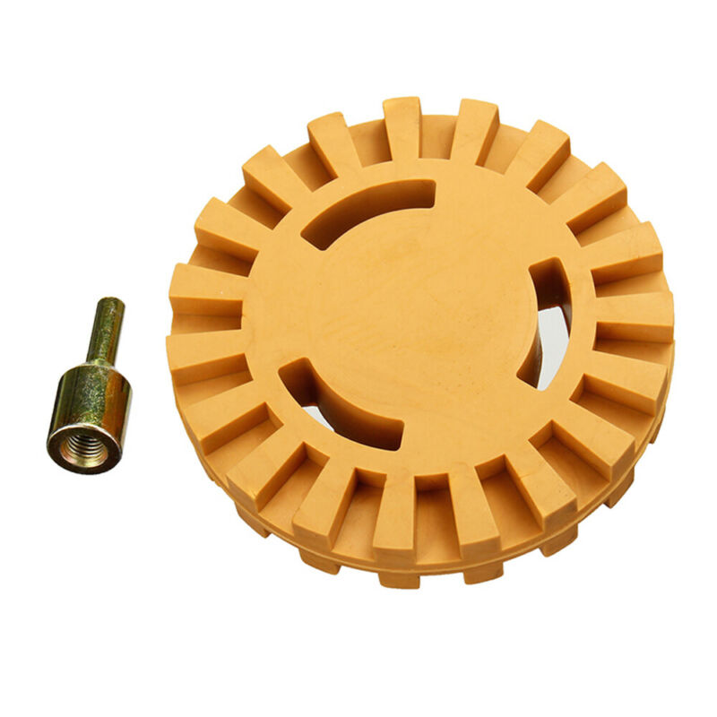 1* Car Sticker Remover Pinstripe Rubber Disk Eraser Wheel Pad Polishing Tools