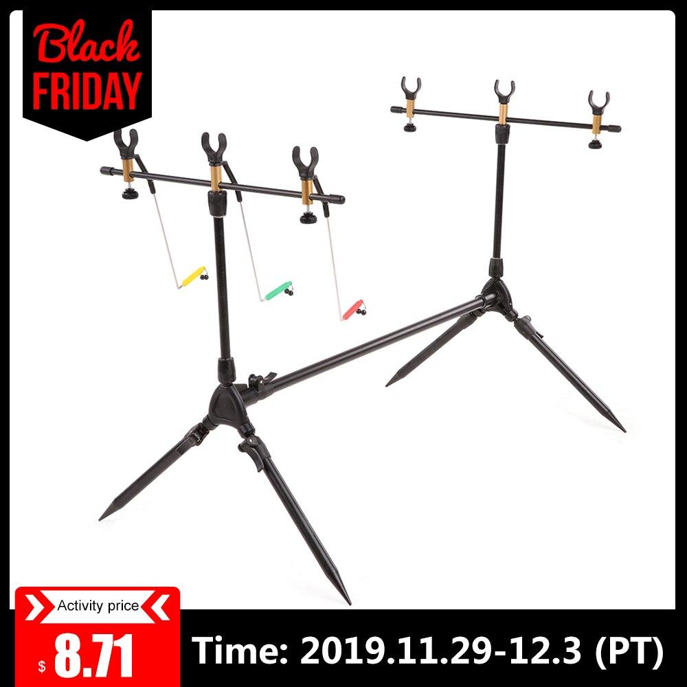 Lixada Adjustable Carp Fishing Rod Pod Stand Fishing Pole Pod  Holder Retractable Fishing Tackle Fishing Accessory