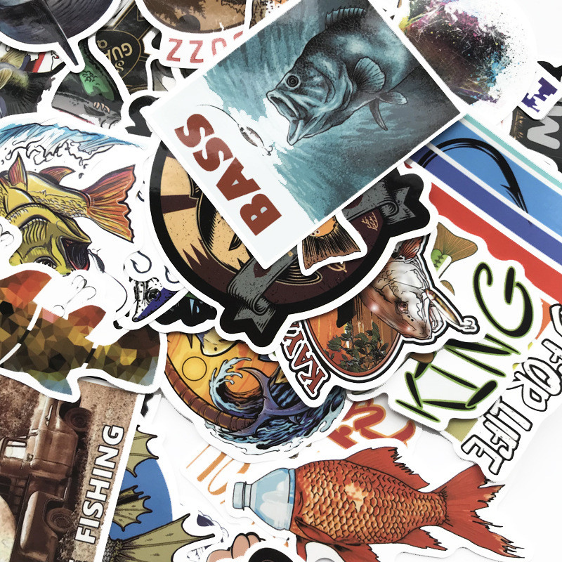 Vinyl Wall Decal Car Sticker Fishing Fisherman Hobby Fish Boat Stickers RD