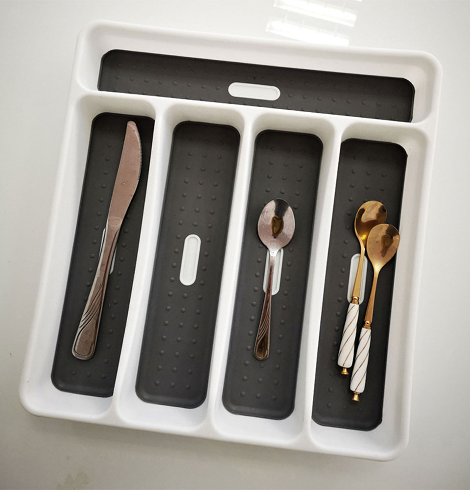 Kitchenware Cutlery Tray Chopstick Holder Dual Purpose Kitchen Wood Tableware CO