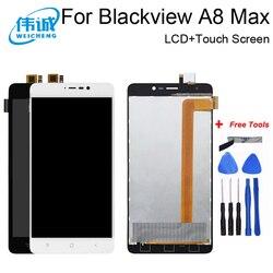 WEICHENG dla Blackview A8 Max wyświetlacz LCD + ekran dotykowy 5.5 calowy ekran dla Blackview A8 Max Digitizer montaż + darmowe narzędzia|screen touch|5 screendisplay lcd touch screen -