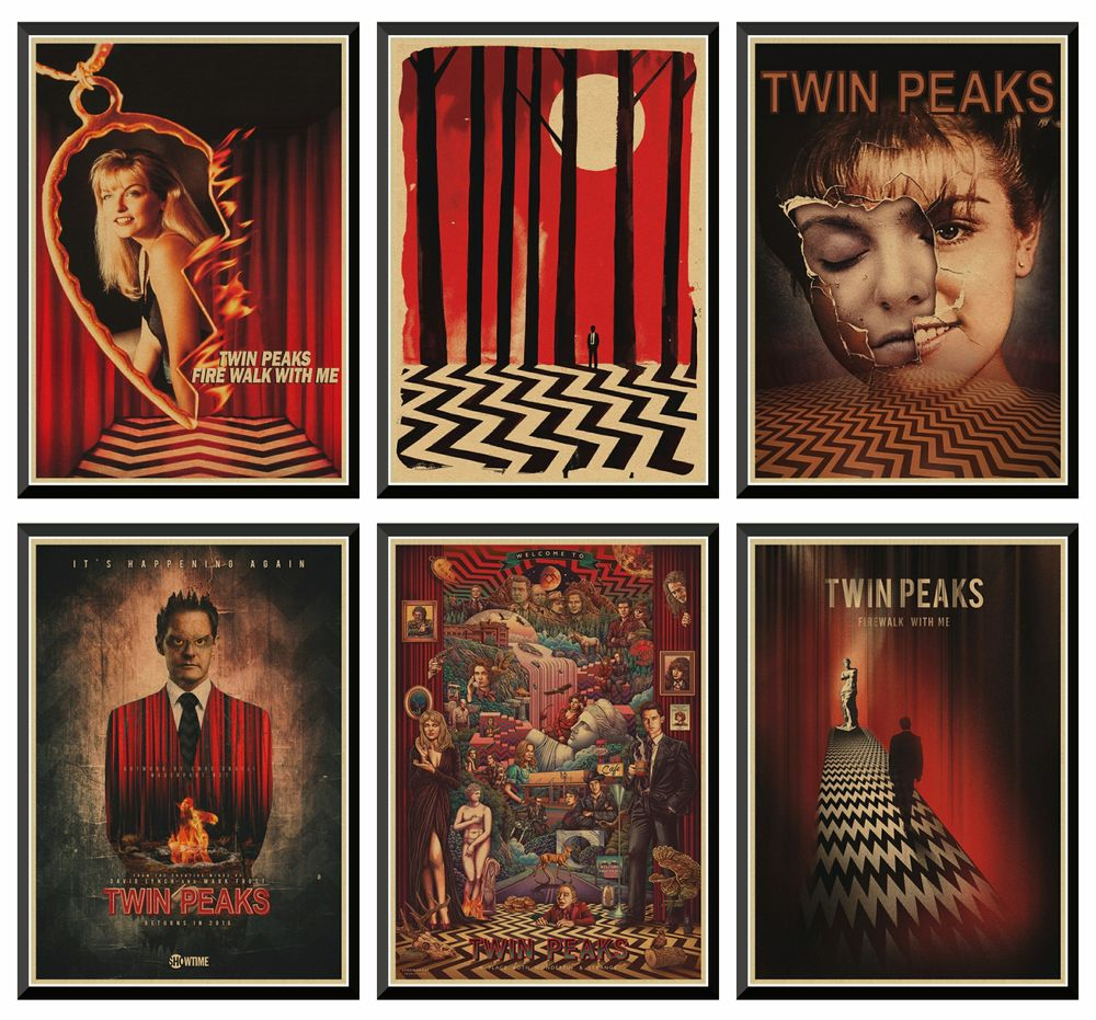 TWIN PEAKS kraft Paper Posters Clear Image Wall Stickers Decoration Good Quality Prints Retro Vintage Poster Home Decor 42X30cm