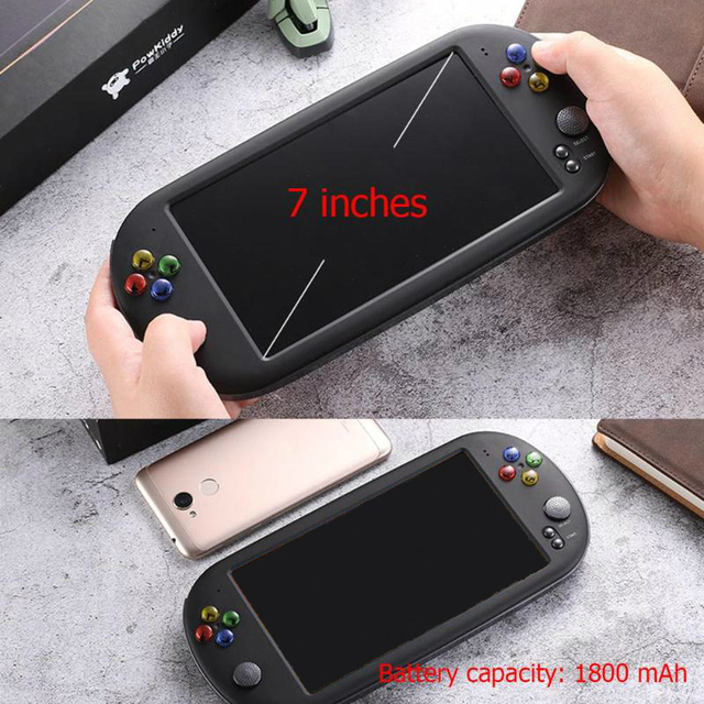 X16 7 inch Color Screen Built-in 8GB/16GB Memory Retro Handheld Game Console Children Gaming Controller Players Birthday Gift 5