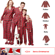 2019 Plaid Full family christmas pajamas Mother/Father/Kid Sets pijamas xmas clothes matching