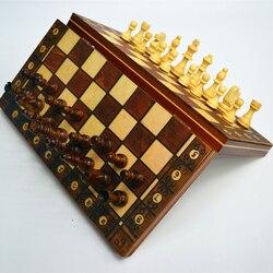 Jogo de xadrez de madeira super magnético xadrez backgammon damas 3 em 1 antigo xadrez viagem conjunto xadrez de madeira peça xadrez xadrez