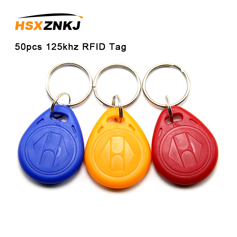 50Pcs Random Colors EM4305 T5577 Duplicator Badge Copy 125khz RFID Tag High Quality Llavero Porta Chave Card Sticker Key Fob